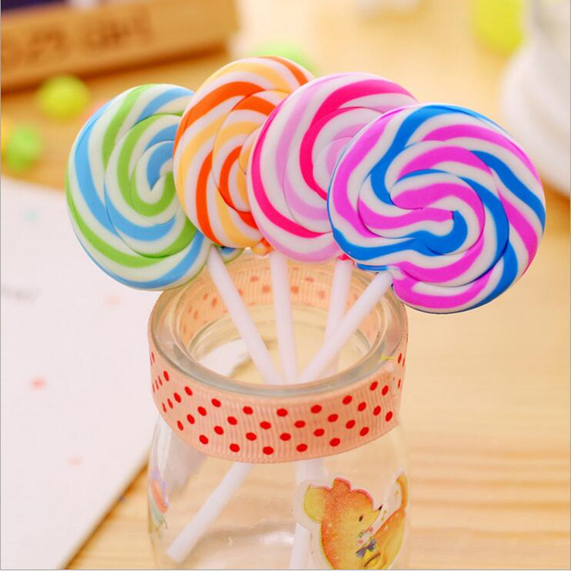 1pc/lot Cartoon Kawaii Stationery Lollipop Eraser Lovely Special Shape Eraser Gifts Office School Supplies For Kids Student