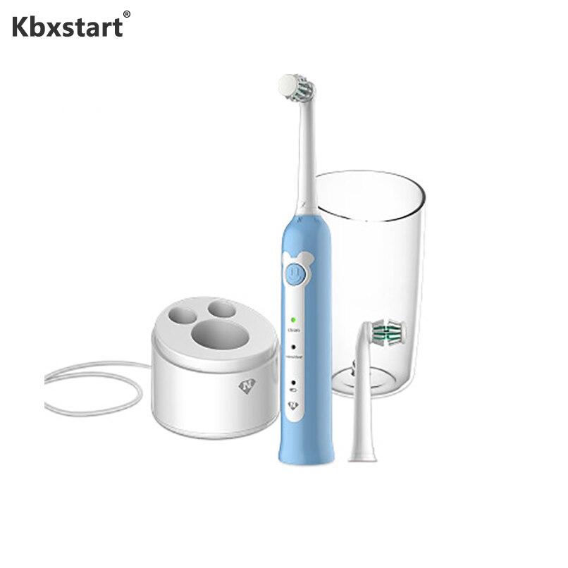 Enfants électrique porte-brosse à dents cas enfants doux cheveux brosse à dents 360 degrés tout rond nettoyage dents Escova De Dente Eletrica