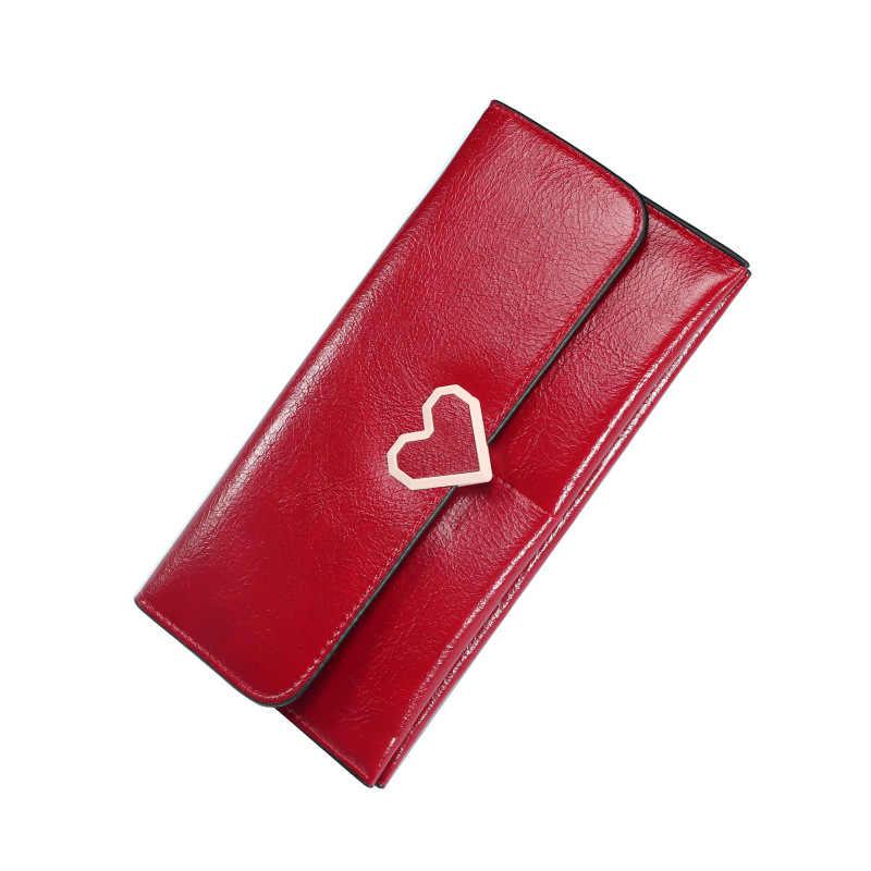 Yeni Kalp Kilit Tasarım Zarif Bayanlar deri cüzdan s Kaliteli Çile Debriyaj Çanta Kadın deri cüzdan Kadın Cüzdanlar A3155/l
