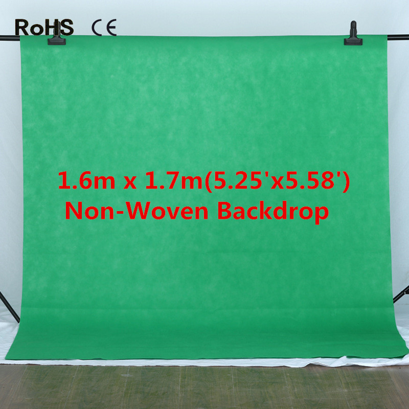 Fotografia Photo Background 1.6x1.7m Green Screen Non-woven Fabrics Backdrop Photography Studio Backgrounds Backdrops supon 6 color options screen chroma key 3 x 5m background backdrop cloth for studio photo lighting non woven fabrics backdrop