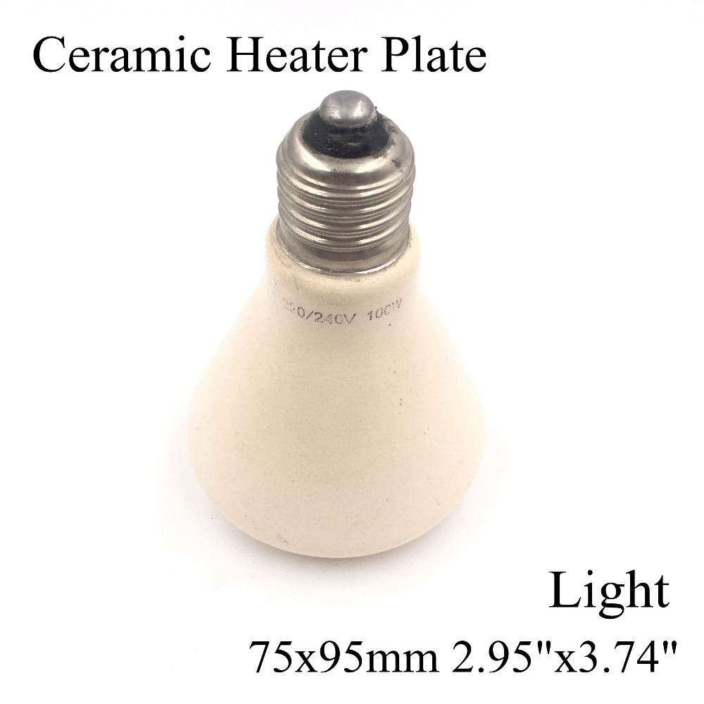 220V 75x95mm 50~100W Pet Ceramic Emitter Heated Plate Appliance Reptile Poultry Heating Breeding Light Bulb For E27 Lamp Holder wheat breeding for rust resistance