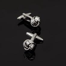 XK172 High quality men's shirts Cufflinks silver two twist Cufflinks brand of men's clothing accessories design