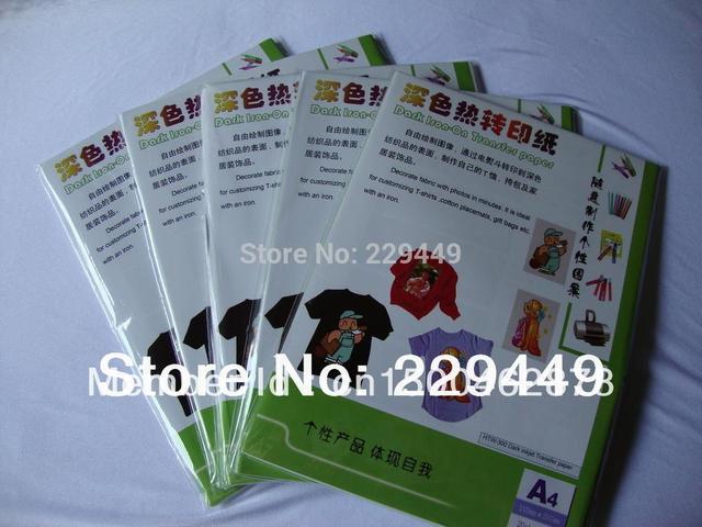 10pcs*A3 Dark Inkjet Heat Transfer Paper For Dark Fabric T shirt Clothes Wholesale Heat Transfers Paper With Heat Press Freeship