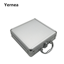 Yernea Hot Texas 100 Poker Chips Playing Card Box Portable Non-slip Mat Aluminum Case This is just a box