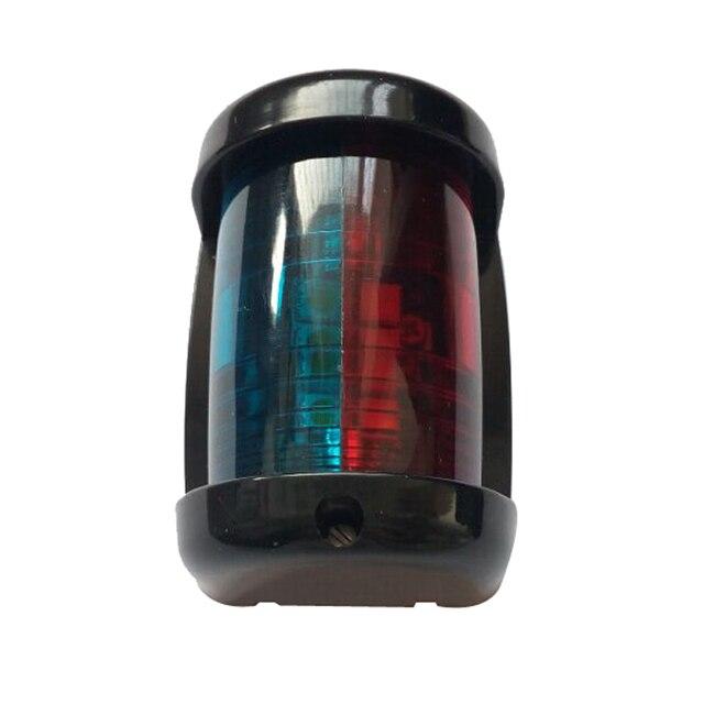 $ 12.6 Bi-Color LED Navigation Light 12V Marine Boat Yacht Signal Light Plastic Mini Size Lamp