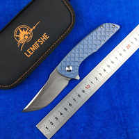 LEMIFSHE M390 blade Hokkaido Flipper folding knife titanium alloy 3D handle outdoor camping hunting fruit knife EDC tool