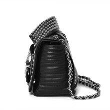 Women Leather Rivet Jacket Punk Style Messenger Bags (2 Colors)