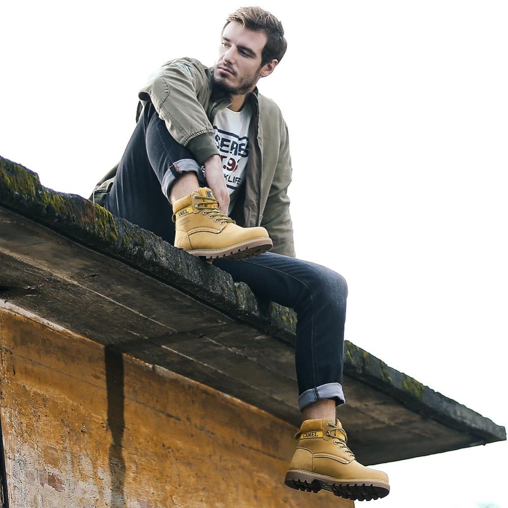 CAMEL buty męskie wysokiej jakości narzędzi buty oryginalne męskie skórzane armii taktyczne wojskowe Botas gumowe fajne buty robocze człowiek rozmiar 41  46 w Podstawowe buty od Buty na  Grupa 3