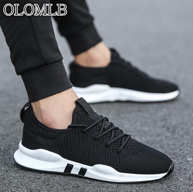 OLOMLB 2019hot người đàn ông của giày trọng lượng nhẹ giày thể thao thoáng khí chống trượt giản dị giày thời trang người lớn giày Zapatillas Hombre đen