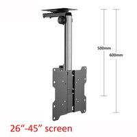 CB 1L aluminum 30 27 46 20kg tilt down tv cabinet mount lcd wall rack ceiling bracket led stand plasma tv holder