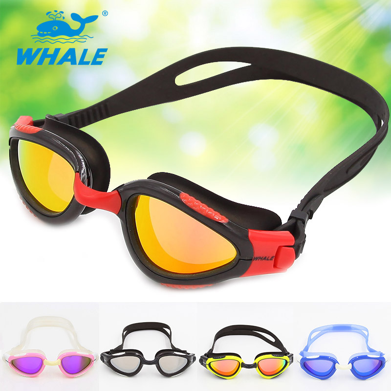 Whale Brand Mirror lens New Professional Anti-Fog/UV Swimmins