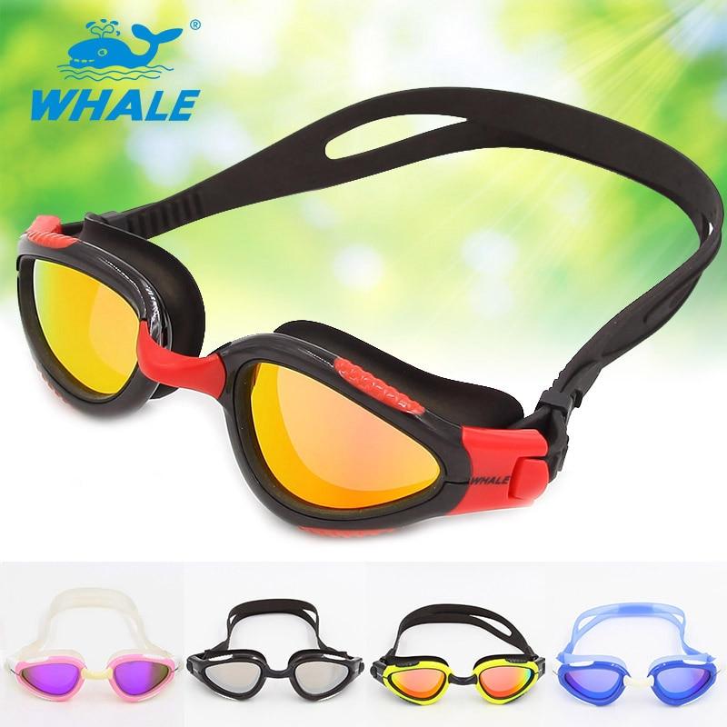 Whale Brand Mirror lens New Professional Anti-Fog/UV Swimmin