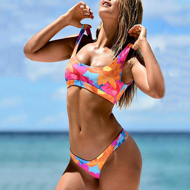 2166a05a0f31e Sexy Bikini 2019 Push Up Micro Bikinis Brazilian Biquini Floral Swimsuit  Female Thong Swimwear Women Bathing Suit Swimming Suits