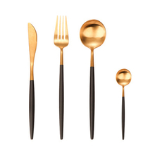 304 stainless steel knife and fork spoon Western food set of four coffee chopsticks gift European Portuguese tableware