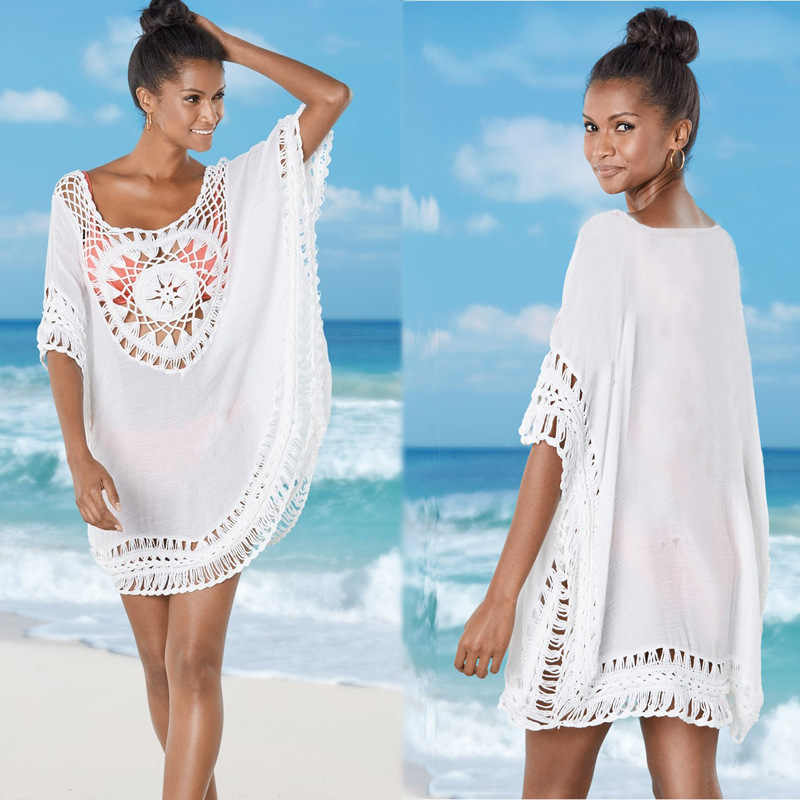 9733f141b530 Abrigos Saida De Playa Larga salidas túnicas Mujer bañista De baño ...