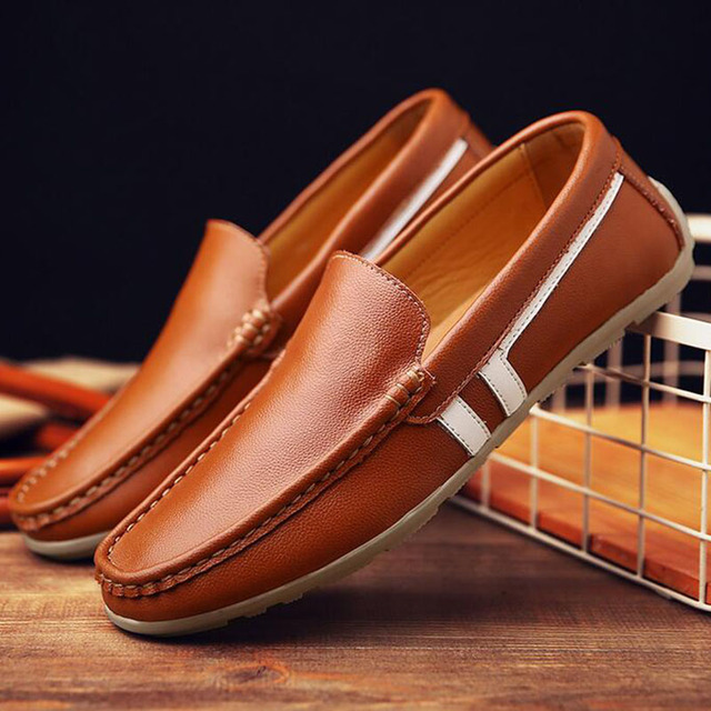 Best quality Genuine Leather men brand casual flats Soft leather Loafers  Comfortable Driving Shoes Handmade moccasins for man fa251658752