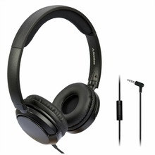 Avantree Superb Sound Lightweight Wired Headphones with Microphone, 1.5M Long Cord On Ear Headsets Fold Flat
