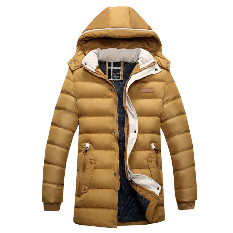 Brand New Winter jacket men cotton warm parka homme casual outwear hoodies clothing mens jackets and coats Plus size XXXL  plus size 4xl bust 132cm winter mens jackets and coats brand nianjeep thick warm cotton clothing new arrival military