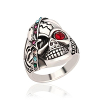 Colorful Skull Ring For Women