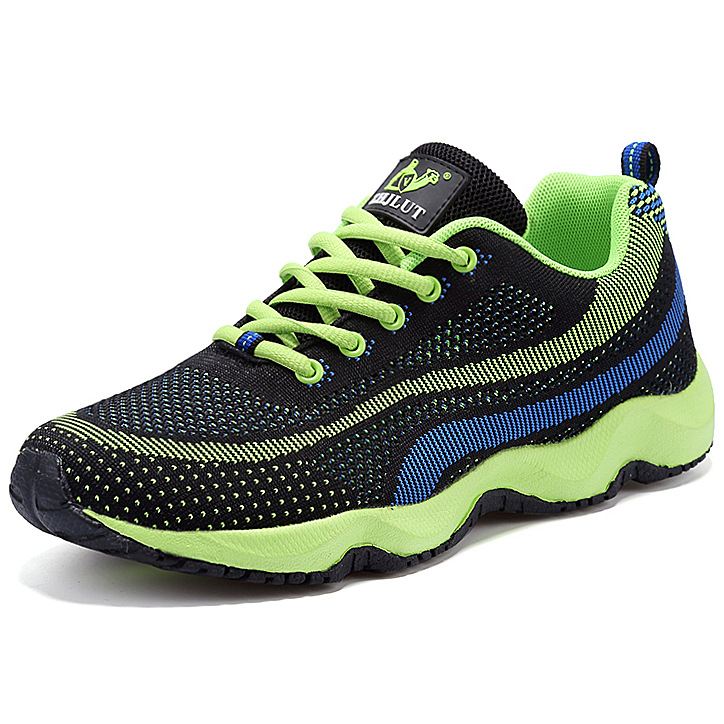 Air Mesh Factory Fly Line Network Breathable Rubber Sole Mountain Outdoor Hiking Shoes Spring Summer Sport Shoes Men Sneakers