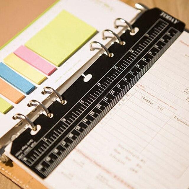 Filofax cahier à feuilles mobiles A5 A6 signet règle règles droites outil pour enfants cadeau étudiant fournitures scolaires