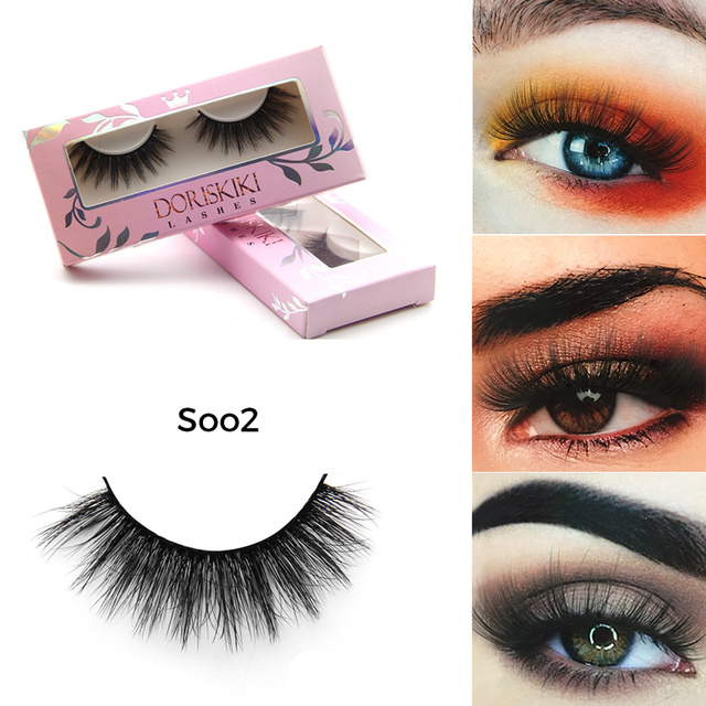 cd493db3b7e S002 3D Silk eyelashes Good 3D effect false lashes Full and soft band lashes  Natural winged false eyelashes Doriskiki lashes
