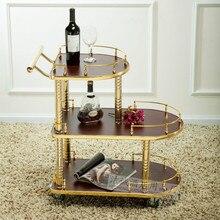 Тележка для воды с вином, трехуровневый сервис, машина для закусок, десерта, машина для 4S, магазин, машина для чая