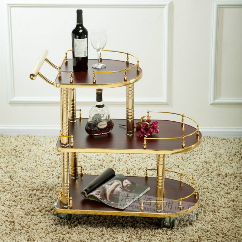 Wine Water Cart Hotel Three-tier Service Car Snack  Dessert Car 4s Shop Tea Car