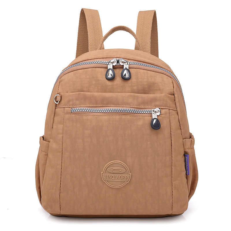 Модные женские рюкзаки высококачественные рюкзаки женские рюкзаки для девочек-подростков водонепроницаемые нейлоновые школьные сумки mochila feminina