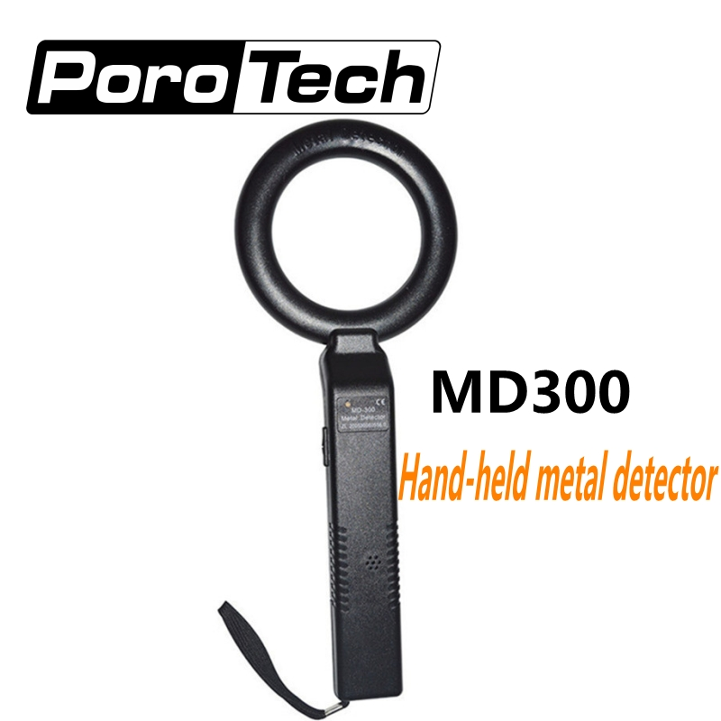 Wholesale MD300 Circle Type Portable Hand-held Metal Detectors Body Scanner With Vibration For Safeguard Security Instruments(China)