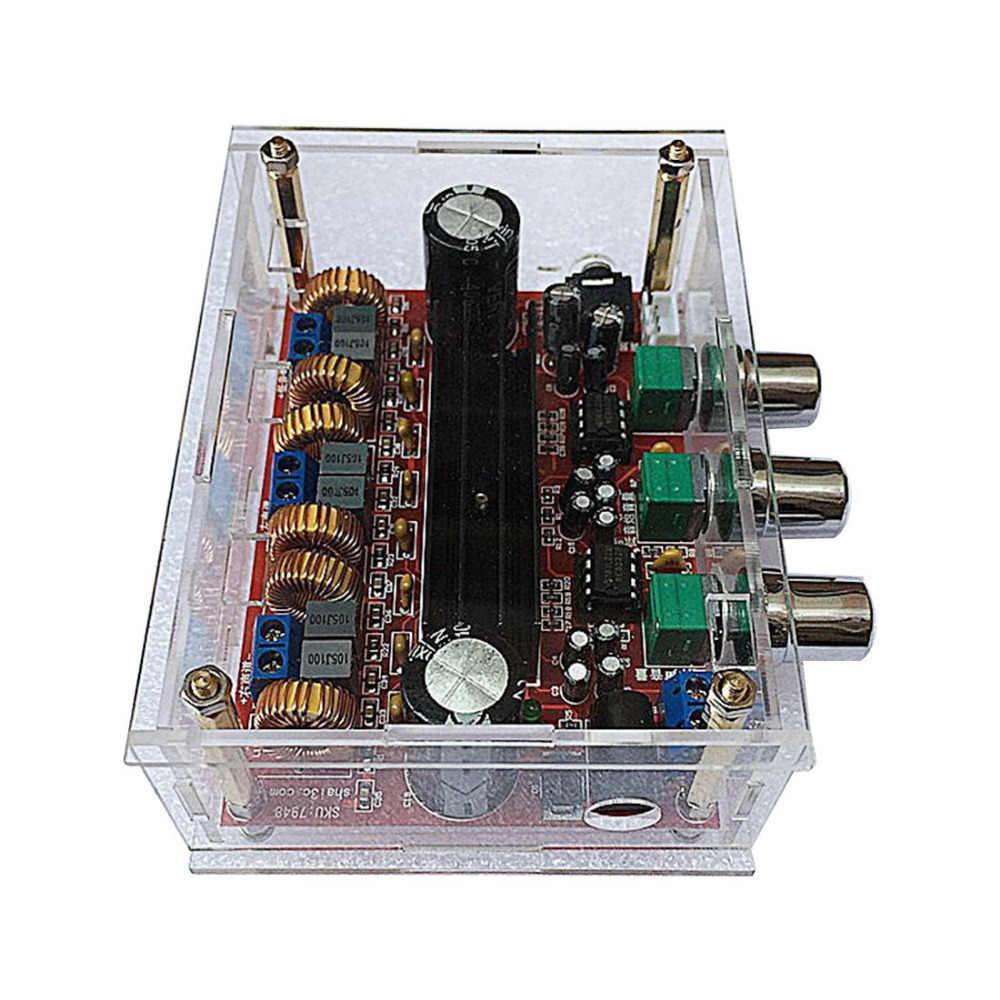 Плата усилителя мощности 2x50W + 100W TPA3116D2 DC 12 V-24 V 2,1 канальный цифровой сабвуфер с прозрачным корпусом