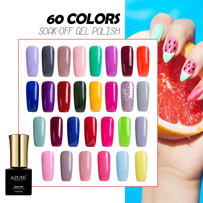 AZURE BEAUTY Gel Varnish Nail Polish 60 Colors Manicure Hybrid Lacquer Hot Sale Gel Nail Paint Soak Off Azure Nail Gel Polish