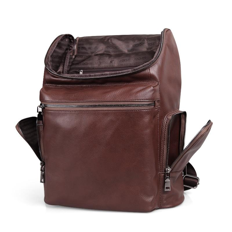 Cobbler Legend Men Mochila De Cuero genuino mochila de viaje de alta calidad mochila escolar bolso de hombre portátil de negocios bolsa de hombro-in Mochilas from Maletas y bolsas    2