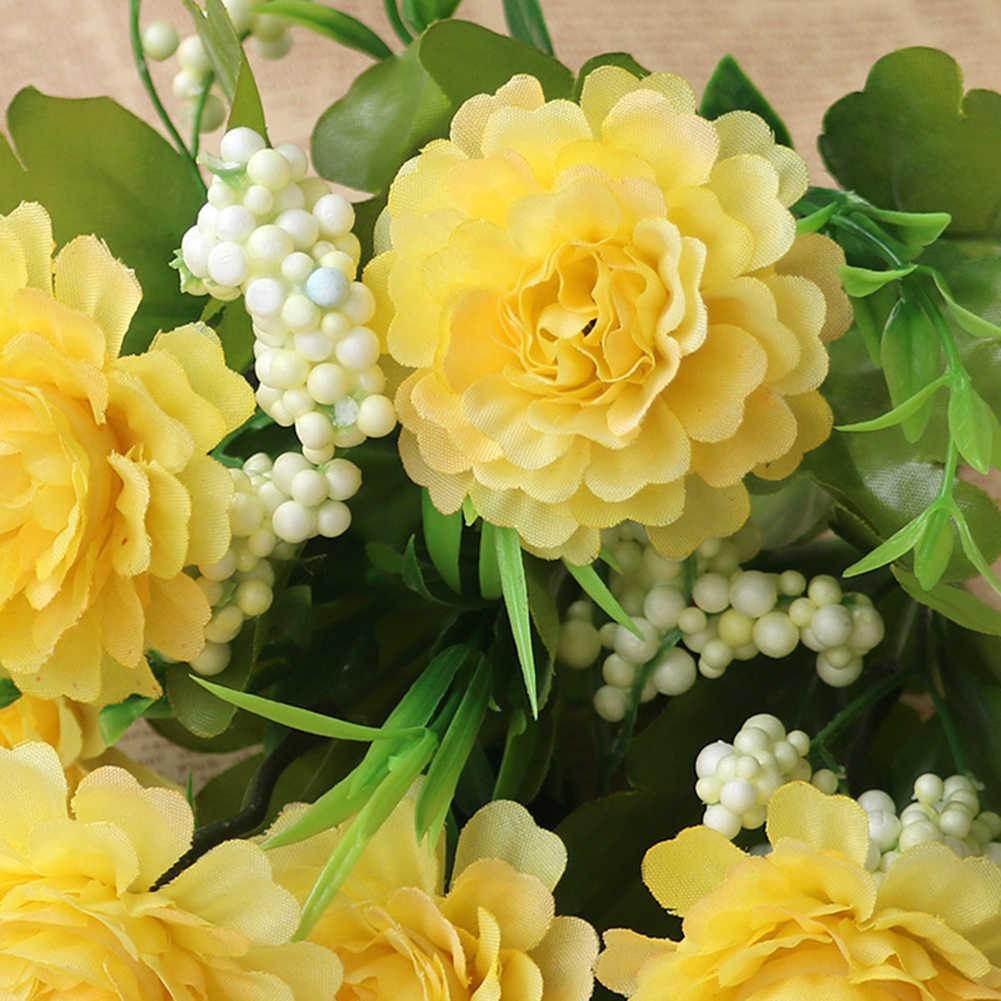 1 PC ประดิษฐ์ดอกไม้ DIY Garden STAGE PARTY หน้าแรกงานแต่งงานเทศกาลดอกไม้พลาสติกดอกไม้สดใสพวงหรีด GLAND CRAFT Decor