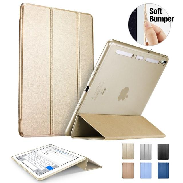 Case for ipad pro 9.7 pulgadas, esr auto de la estela magnética suave esquina color de la cubierta elegante del soporte trifold tablet case para ipad pro 9.7 pulgadas