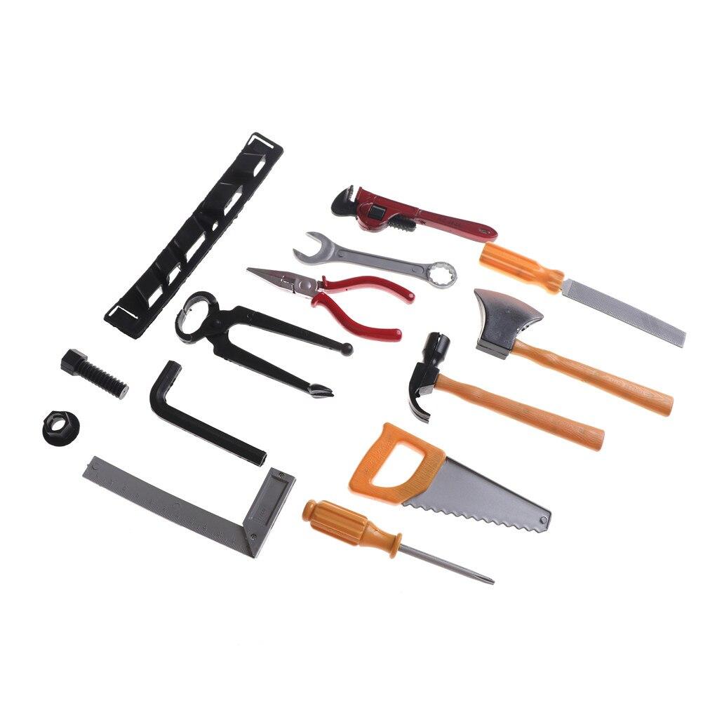 14 Stks/set Diy Classic Boy Building Reparatie Tool Speelgoed Plastic Bouw Educatief Speelgoed Tool Kits Set Bestellingen Zijn Welkom.