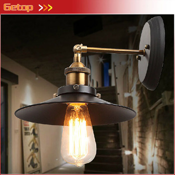 Best Price American Country Style Retro Wall Lamp Industrial Warehouse Aisle Vintage Wall Lamps Iron Balcony Bar Wall Lights