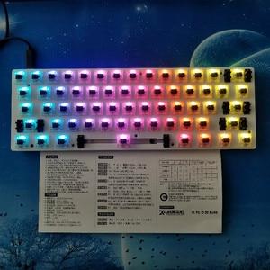 Image 4 - GK61 (ta sama marka GK64) klawiatura mechaniczna zestaw DIY Hot Swap niezależny sterownik tyce c interfejs GH60 RGB