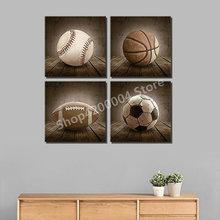 Fuldt firkantet polymaleri 5D DIY Diamantmaleri Fodbold, Basketball, Baseball, Rugby Diamantbroderi Håndlavet Mosaik