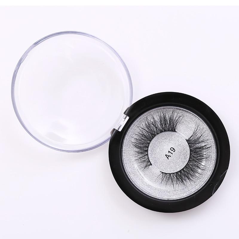 A19 Luxury 3D Mink False Eyelashes Silk Maquiagem Long Lasting Natural Faux Cils Eyelash Extension Fake Eye Lashes Nep Wimpers