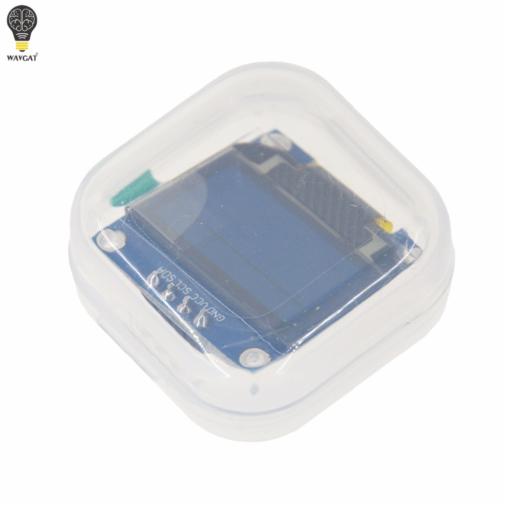 Free Shipping 1Pcs Yellow blue double color 128X64 OLED LCD LED Display Module For Arduino 0.96 I2C IIC SPI Serial new original