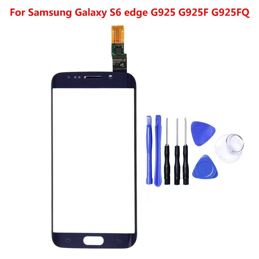 Numériseur d'écran tactile pour Samsung Galaxy S6 Edge G9250 G925F capteur tactile panneau de verre pièce de réparation de remplacement G925