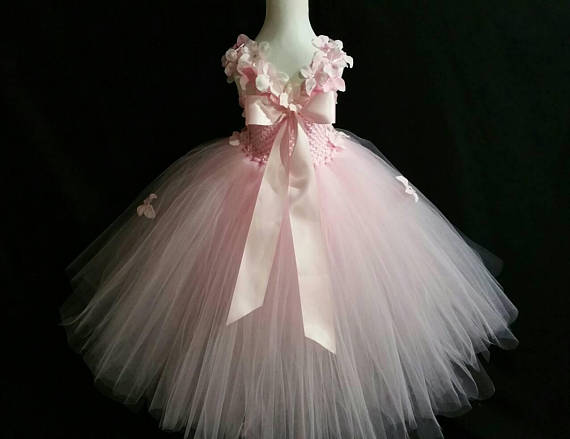 Licht Blauwe Jurk : Posh droom licht roze bloem tutu jurk voor wedding party gele en