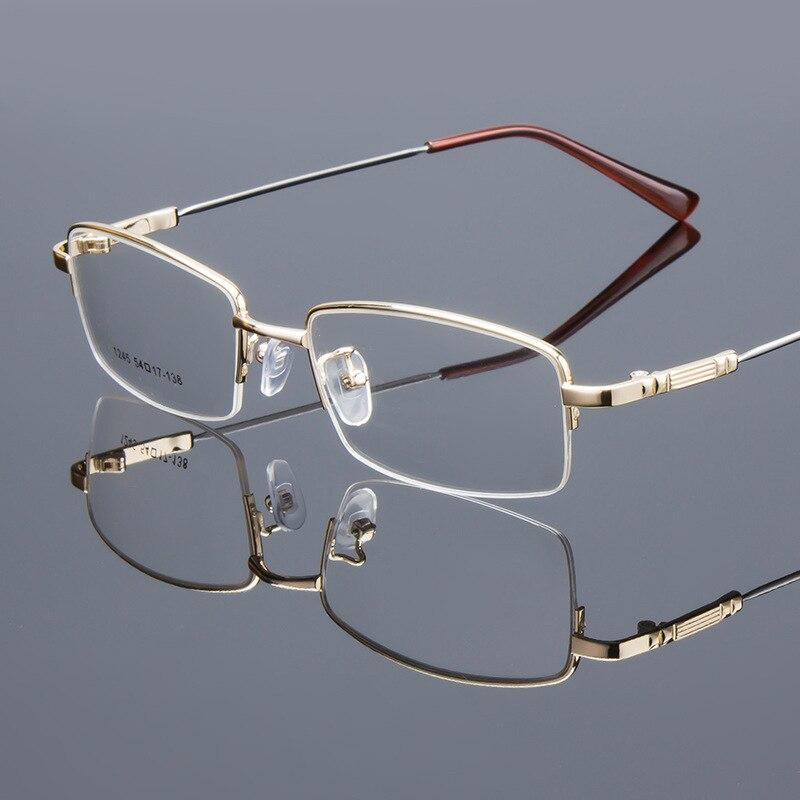 Hombres clásico Gafas miopía sin montura semi espectáculo ojo Gafas ...