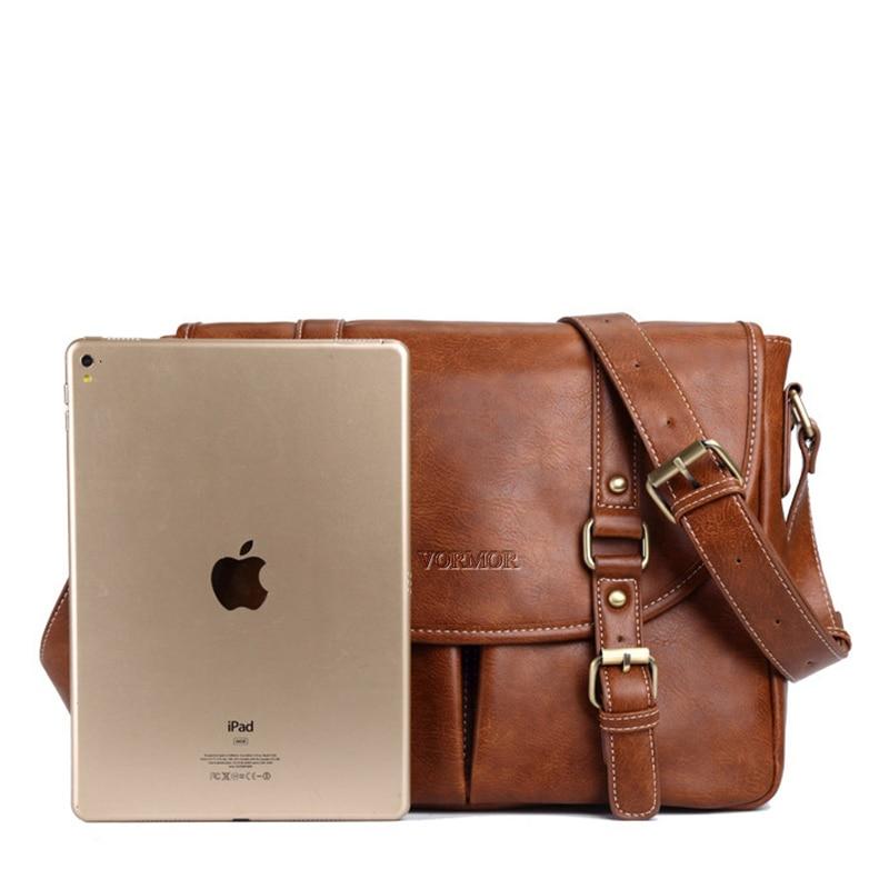 dad631de00a0 Aliexpress.com   Buy VORMOR Brand Leather Men Bag Casual Business Leather Mens  Messenger Bag Fashion Men s Crossbody Bag bolsas male from Reliable men ...