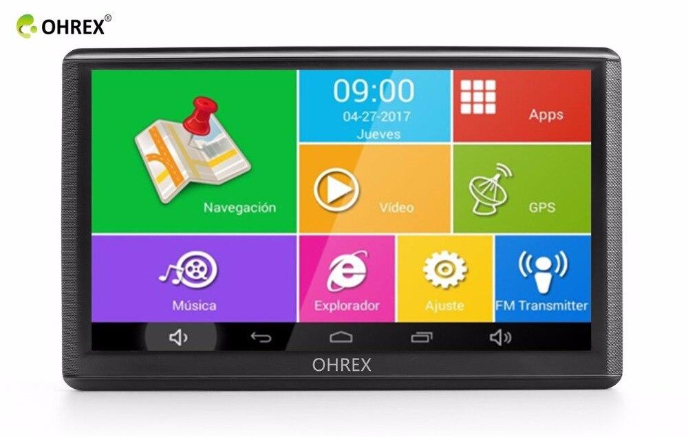 OHREX 740A 7 inch GPS Satellite Navigator with Full Europe ... on cell phone app, media app, fireplace app, medical app, communication app, radio app, education app,
