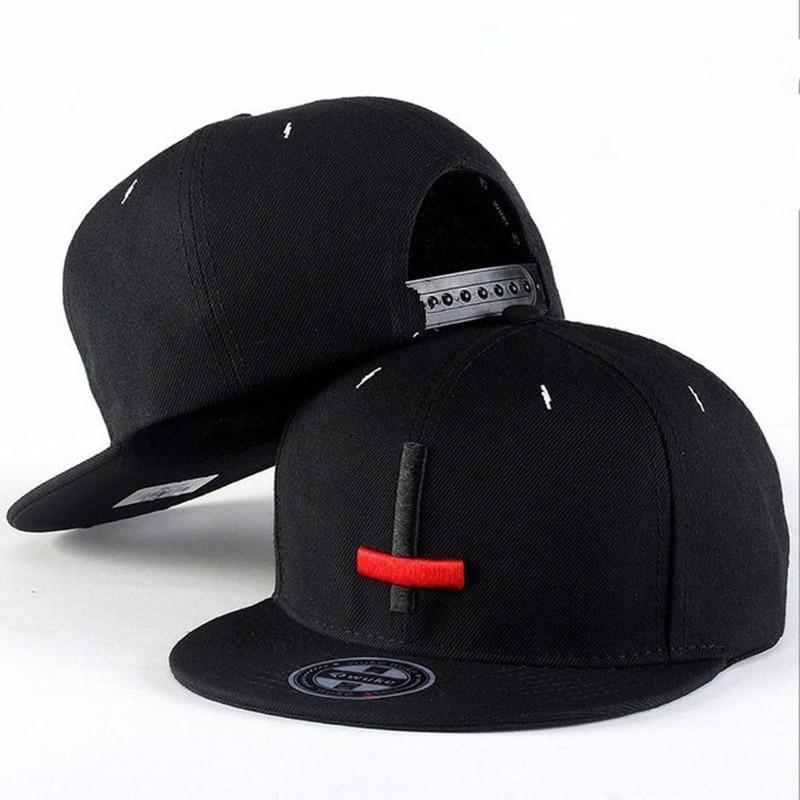c2562b84 2017 New Brand Street Dance Cool Hip Hop Caps Embroidery Black Red Cross  Snapback Snap Back Men Baseball Caps Hats Bone Hat