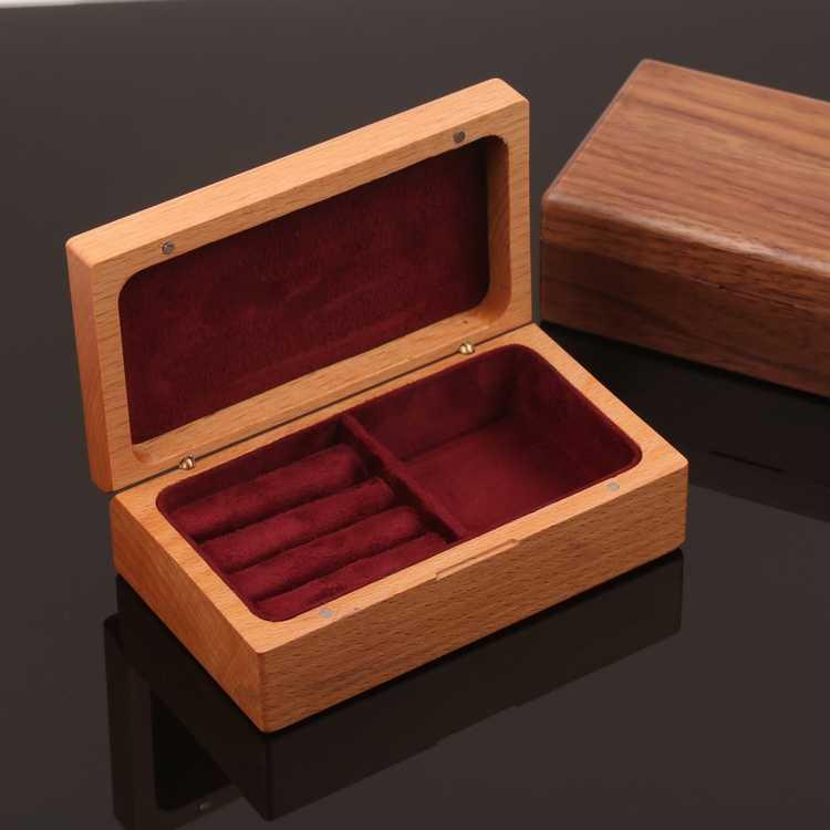 Ореховое Дерево Деревянный ящик для хранения квадратная коробка изготовленный на заказ кулон кольцо коробка мульти-функциональные украшения маленькую коробочку обработки 120*70*42 мм