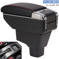 For Suzuki SX4 Armrest Box Suzuki SX4 Universal Car Central Armrest Storage Box cup holder ashtray modification accessories