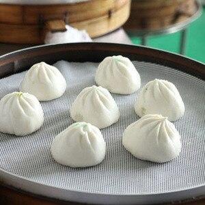 1Pcs Non-Stick White Silicone Steamer Dim Sum Paper Restaurant Kitchen Under Steamers Mat Kitchen Cooking Tools Accessories(China)
